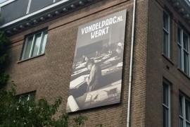Spandoek met 'blind'-frame Utrecht