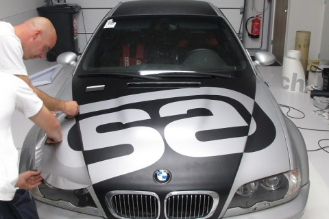 carwrapping bmw m3 raceauto